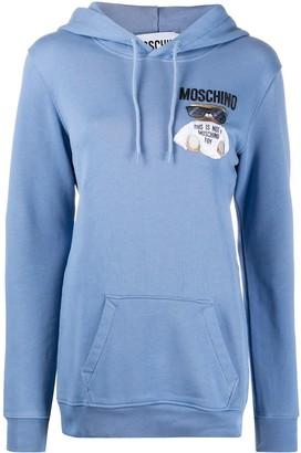 Moschino Teddy Bear embroidery hoodie
