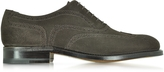 Moreschi Windsor Dark Brown Suede Goodyear Wingtip Oxford Shoe