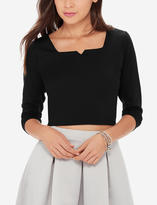 The Limited Ponte Crop Top