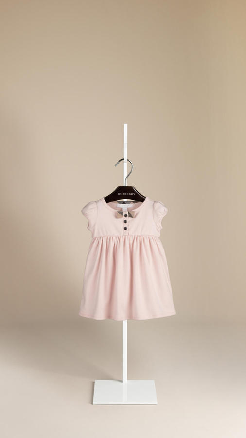 Burberry Bow Detail Cotton Dress