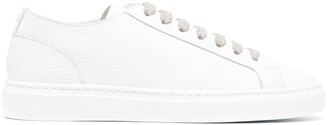 Doucal's Leather Lace-Up Sneakers