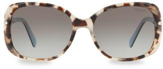 Prada 57MM Tortoise Gradient Sunglasses