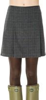 Max Studio Heathered Wool Pleated Skirt
