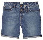 River Island MensVintage blue slim fit denim shorts