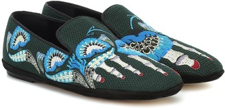 Loewe Embroidered loafers