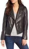 BCBGeneration Women's Lambskin Leather Moto Jacket