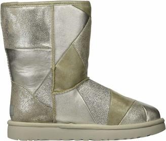 UGG Women's W Classic Glitter Patchwork Fashion Boot