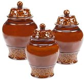 Certified International Solstice Brown 3-pc. Kitchen Canister Set