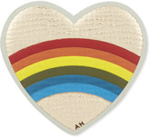 Anya Hindmarch Heart rainbow leather sticker