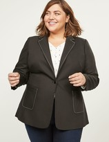 Lane Bryant Bryant Blazer - Modern Stretch With Single Button