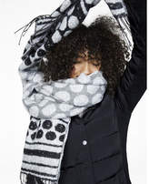 Express Oversized Polka Dot Fringed Scarf