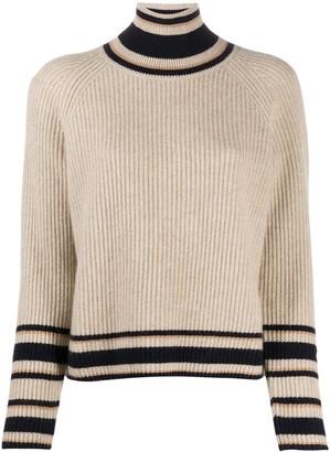 Naadam Ribbed-Knit Striped Jumper