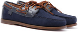 Polo Ralph Lauren Bienne Ii Newport Navy Suede Boat Shoes