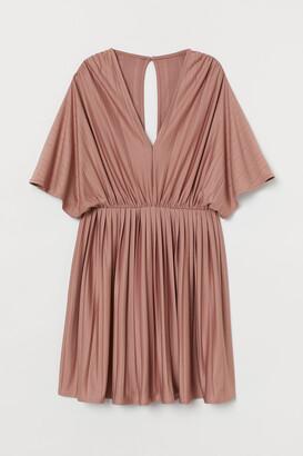 H&M Pleated Jersey Dress