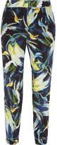 Erdem Giulia Cropped Printed Silk Slim-leg Pants