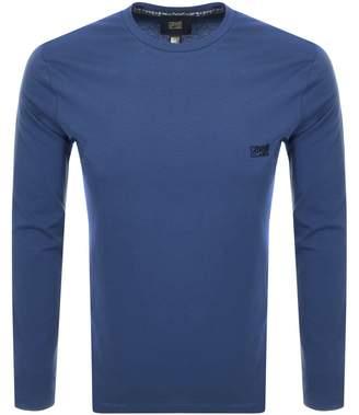 Just Cavalli Cavalli Class Long Sleeved Logo T Shirt Blue