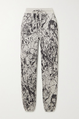 Twenty Montreal Pollock Hyper Reality Intarsia Cotton-blend Track Pants - Gray