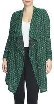 Chaus Tweed Stripe Knit Cardigan