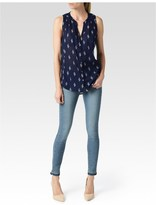 Paige Bonnie Top - Evening Blue/Birch/Cedar-Ikat