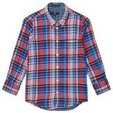 Gant Red and Blue Double Face Oxford Shirt