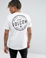 Volcom T-Shirt With Back Print In White