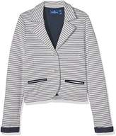Tom Tailor Kids Girl's Striped Sweat Blazer Sweatshirt