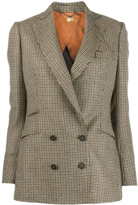 Maurizio Miri Double-Breasted Houndstooth Blazer