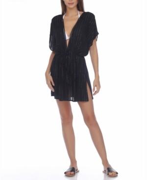 Raviya Metallic-Thread Dress Cover-Up Women's Swimsuit