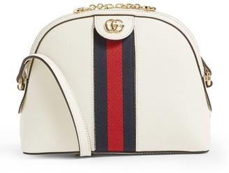 Gucci Small Leather Ophidia Shoulder Bag