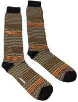 Missoni Gm00cmu5238 0001 Olive/orange Knee Length Socks.