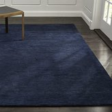 Crate & Barrel Baxter Indigo Blue Wool Rug