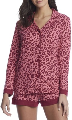 Cosabella Bella Printed Knit Top & Boxer Pajama Set