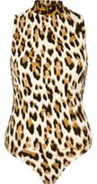 River Island Womens Brown animal print turtleneck bodysuit