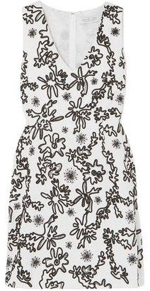 Rachel Zoe Shari Embellished Cotton-gauze Mini Dress