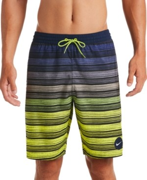 "Nike Men's 6:1 Stripe Breaker Water-Repellent Ombre 9"" Swim Trunks"