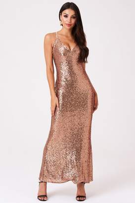 Outrageous Fortune Sequin Strappy Sheath Dress