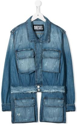 Diesel TEEN distressed denim jacket