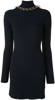 Dion Lee Ribbed Open-Back Mini Dress