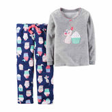 Carter's Girls Long Sleeve Pant Pajama Set-Preschool