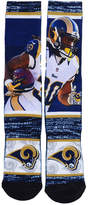 For Bare Feet Men's Todd Gurley Los Angeles Rams Rush Player Jersey Crew Socks