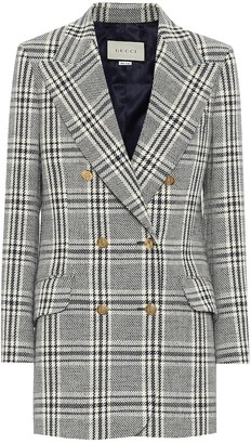 Gucci Checked wool-blend jacket