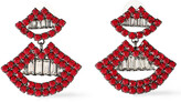 Thumbnail for your product : Elizabeth Cole The Smile Gunmetal-tone Crystal Earrings