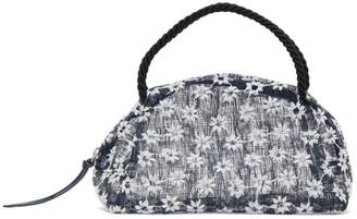 Maryam Nassir Zadeh Navy Floral Sun Bag