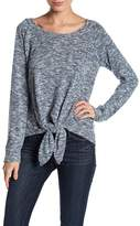 Socialite Tie Front Knit Shirt