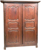 One Kings Lane Vintage 18th-C. French Chestnut Armoire