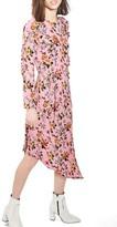 Topshop Women's Brit Ruffle Midi Dress