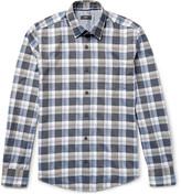 Hugo Boss - Reid Slim-fit Checked Herringbone Cotton Shirt
