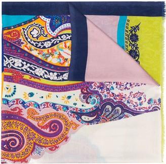 Etro Paisley Jacquard Silk Scarf