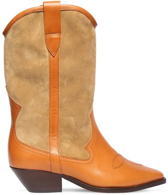 Isabel Marant 40mm Dandrea Suede & Leather Boots