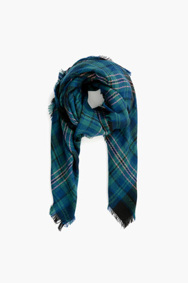 Pomander Place Blue Green Plaid Scarf